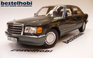 MERCEDES 560 SEL 1985-1991 DEALER EDITION NIGHT GREEN 1