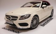 MERCEDES C CLASSE CABRIOLET DIAMOND WHITE BRIGHT I SCALE 1
