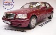 MERCEDES S500 1997 W140 RED METALLIC NOREV HQ SERIES 1