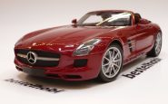 MERCEDES SLS AMG METALLIC RED MINICHAMPS 1